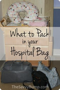 Lots of great info about what to pack in your hospital bag plus tips from a dad!