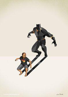 New Children's Superheroes Shadows Posters – Fubiz Media