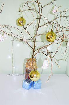 Árvore de Natal com galhos secos e efeito neve - #EspecialDeNatal - Casinha Arrumada