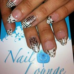 by @oleidys_naillounge What fashion house are these nails inspired by? First person to email the right answer to info@nailloungeny.com will win a treat. #naillounge #minxnails #nails