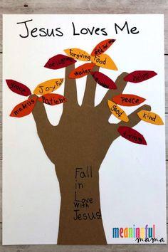 Fall Handprint Sunday School Craft for Kids - Autumn Bible Crafts sundayschool biblecrafts 36943659429636069