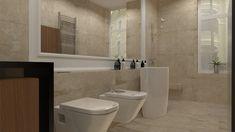 projekt łazienki w gorzowskiej kamienicy od studia novoART z Gorzowa Wlkp Toilet, Bathroom, Washroom, Flush Toilet, Bathrooms, Litter Box, Toilets, Bath, Bathing