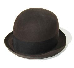 Vintage 50s Bowler Hat Brown Knox Fifteen Mens by HepCatVintageNY