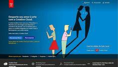 """Artistas brasileiros no site oficial da Adobe - O Brasil é primeiro país a expor um desenho digital local na sua página principal. O espaço foi inaugurado por Guto Lacaz artista designer e professor do curso de arquitetura da Belas Artes ilustrador de diversos livros. """"Casal ao Celular"""" foi desenvolvida noAdobe Illustrator. Nos próximos meses a seleção será feita através doBehance plataforma na qual profissionais criativos do mundo todo podem compartilhar seus portfólios. E já estende o…"""