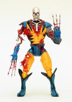 action figures | Zombie Wolverine Custom Action Figure