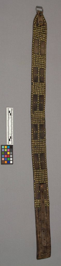 Sioux tacked belt, before 1884.  NMNH  ac
