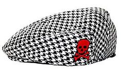 Cool Punk Rock Skull Baby & Toddler Jeff Cap: Houndstooth