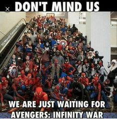 THE HECK IS WITH ALL THE SPIDERMEN?? I see 1 and 1/2 captain America shields thank goodness. And there's an Ant man in there.