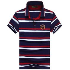 Mens Striped Printed Casual Tops Turn-down Collar Short Sleeve Business Polo Shirt Sales on NewChic Mobile Silk Screen T Shirts, Shirt Sale, Polo T Shirts, Casual Tops, Chic Outfits, Latest Fashion Trends, Mens Tops, Clothes, Color Red