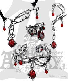Alchemy Gothic Thorn Vine Passion Set - Choker Necklace, Ear Wrap Earring, Bracelet & Ring | eBay