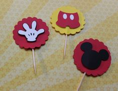 Mickey Mouse Cupcake Toppers via Etsy