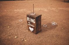 Ring Toss....another cute game for guests to play during cocktail hour!