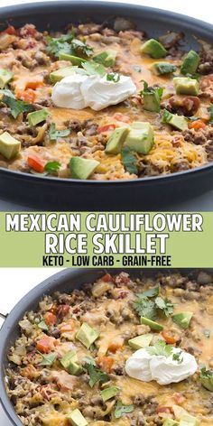 Easy keto dinner recipe that the whole family loves My kids don t even complain about the cauli rice Wooo hooo This mexican-inspired dish will have you coming back for more ketodinnerrecipes cauliflowerrice healthyeating mexican Ketogenic Recipes, Paleo Recipes, Healthy Dinner Recipes, Mexican Food Recipes, Diabetic Dinner Recipes, Healthy Hamburger Recipes, Ground Beef Keto Recipes, Healthy Ground Beef, Atkins Recipes