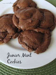 Num's the Word: A chocolate cookie with Junior Mints in each bite - Yes please!