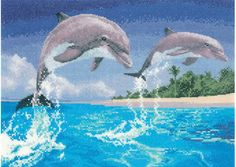 Designed by John Clayton for Heritage Crafts Power & Grace series, this beautiful scene showing two dolphins rising out of the water is a perfect for nature lovers.