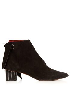 Faceted-heel suede ankle boots | Provenza Schouler - SUMMER SALE - AVAILABLE HERE: http://rstyle.me/n/cpi5t9bcukx