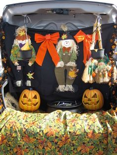 """Looking for decoration ideas for """"Trunk or Treat"""". Check out this . Looking for decoration ideas for """"Trunk or Treat"""". Check out this website dedicated Holidays Halloween, Scary Halloween, Halloween Treats, Halloween Decorations, Halloween Party, Trunk Or Treat, Harvest Festival Crafts, Fashion Art, Autumn Theme"""