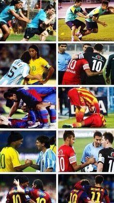 Ronaldinho a veillé sur Messi 8a351a2cd3c2e