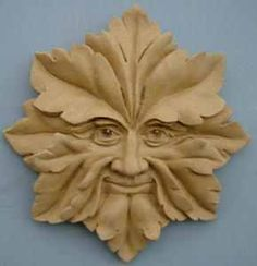 Celtic Wall Plaque Greenman Star Resin Terracotta Finish Made in UK