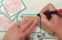 Tip for drawing border on stamped cards