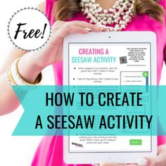 How to Create a Seesaw Activity by Naomi Meredith -- Marvelous Ms M Too Cool For School, School Fun, Seesaw App, Introduction Activities, Flipped Classroom, Teaching Technology, Dinner Ware, Media Consoles, Cooking Gadgets