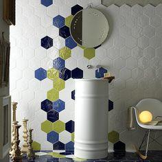 Tiles : Ceramic Mosaic Floor Tile Patterns Our Latest Obsession Is The Unfinished Backsplash Hexagon Tile Bathroomhexagon Ceramic Mosaic Floor Tile Pattern Ceramic Mosaic Floor Tile Patterns' Tiless Hex Tile, Hexagon Tiles, Tiling, Bathroom Floor Tiles, Wall Tiles, Bathroom Art, Cuisines Design, Tile Patterns, Tile Design