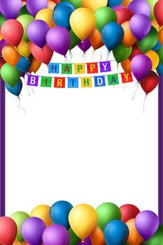 New Happy Birthday Design Gif Ideas Happy Birthday Ballons, Happy Birthday Wishes Cake, Happy Birthday Printable, Happy Birthday Cake Images, Happy Birthday Wallpaper, Happy Birthday Greetings, Birthday Photo Frame, Happy Birthday Frame, Happy Birthday Posters