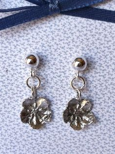 Sterling Silver Post/Ball Earrings by Forgetmenotkeepsake on Etsy, $60.00
