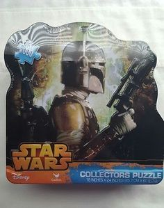 Star Wars Collectors Puzzle: 1000 Pieces in Tin: Boba Fett NEW 18 x 24 inches