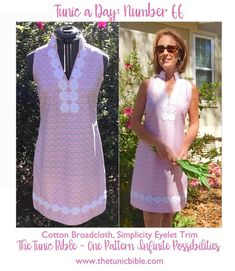 The Tunic Bible - Hello Spring! We are abso-bloomin'-lutely in love with Simplicity's cheerful crochet blossom trim!