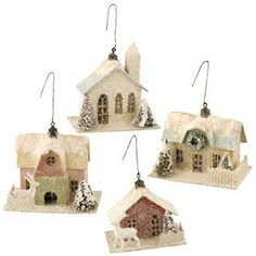 Paper houses christmas decorations