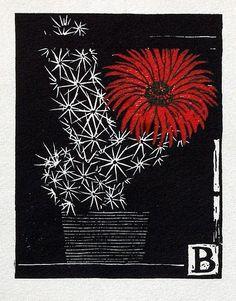 """poboh: """" Červený květ / Red Flower, Vojtěch Preissig. (1873 - 1944) """""""