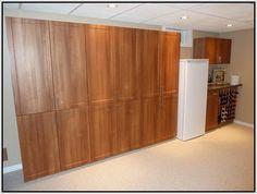simple garage cabinet home design ideas build cabinets plywood Two Car Garage, Diy Garage, Garage Plans, Garage Ideas, Garage Storage Cabinets, Built In Cabinets, Garage Organization, Plywood Kitchen, Plywood Cabinets