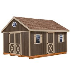 Shop Best Barns Easton Gable Engineered Wood Storage Shed (Common: 12-ft x 16-ft; Interior Dimensions: 11.42-ft x 15.42-ft) at Lowes.com