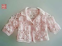 Picture Of Beautiful Baby Boutique Ii - Qoster Baby Knitting Patterns, Baby Patterns, Dress Patterns, Crochet Baby Cardigan, Crochet Baby Clothes, Knit Crochet, Gilet Rose, Diy Crafts Crochet, Baby Sweaters