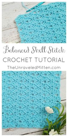 Balanced Shell Stitch Crochet Tutorial Lets learn a new crochet stitch! The balanced shell stitch is a lacy stitch that would be great for your next baby blanket, throw, shawl, scarf and much more! Crochet Afghans, Easy Crochet Stitches, Crochet Shell Stitch, Crochet Motifs, Tunisian Crochet, Afghan Crochet Patterns, Baby Blanket Crochet, Free Crochet, Crochet Stitch Tutorial