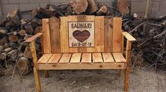 Wedding Bench Guest Book by PALACEdePALLET on Etsy, $240.00