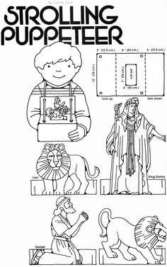 Daniel and the lion's den puppets from lds.org Jan. 1983