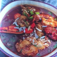 Gumbo - one of the greatest things on.this.planet. Can't wait for Thanksgiving!! Such a great tradition...wonder how our French New Orleans relatives used to make it