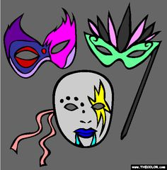 masks coloring page tylerscribble