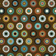 Flower pattern, retro style