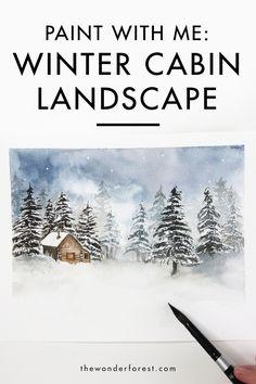 Winter Landscape Watercolour Painting