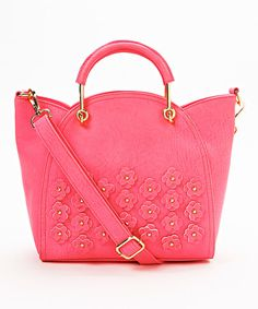 Another great find on #zulily! Pink Flower-Appliqué Satchel by Nila Anthony #zulilyfinds
