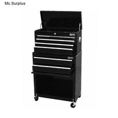 Black Chest Roller 24In. Steel Combination Tool Cabinet Wheels  Excel TB220XAB