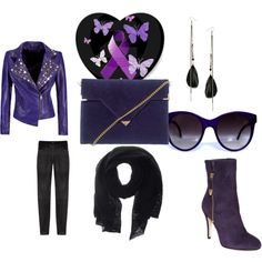 """purple"" by pam-mcgee on Polyvore I like this outfit"