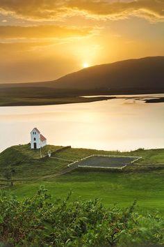 Ulfljotsvatn Church Sunrise, Iceland