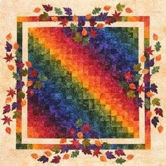 Shades of Autumn Quilt - like alot, but would make it with slightly more autumn-like colors