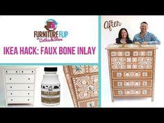 Furniture Flip Ikea Hack: DIY Faux Bone Inlay Dresser