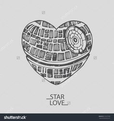 Image result for death star heart valentine