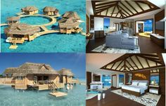 OVERWATER BUNGALOW SUITES! The newest project for Sandals Royal Caribbean's private island is set to be finished by the end of 2014!